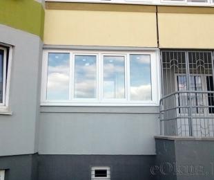 Балконная рама из ПВХ. Минск. №3