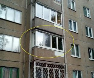 Балконная рама из ПВХ. Минск. №2