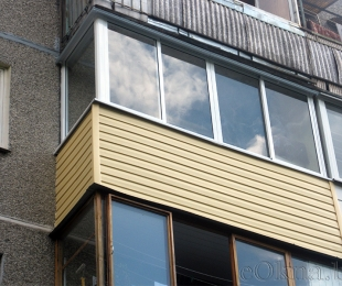 Балконная рама из алюминия. Минск. №1