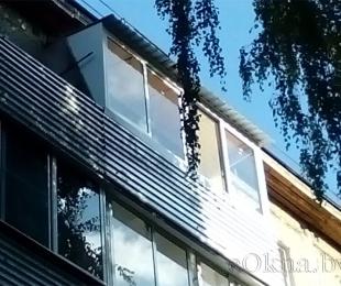 Балконная рама из алюминия. Минск. №6