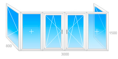 Балконные рамы пвх в минске, цена рамы на балкон.